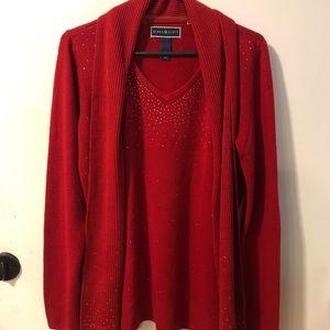 Red Karen Scott sweater